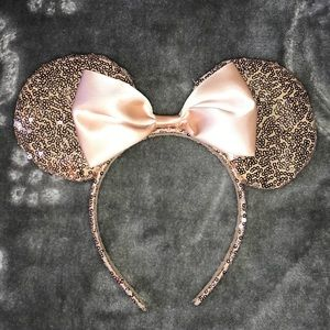 Rose Gold Sequin Mickey Ears